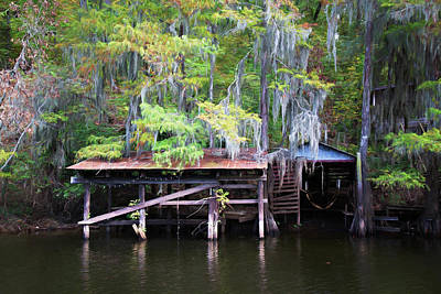 Photograph - Rustic Boat Dock by Lana Trussell
