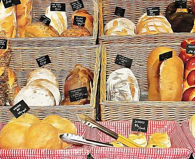 Photograph - Rustic Bread Display by Dorothy Berry-Lound