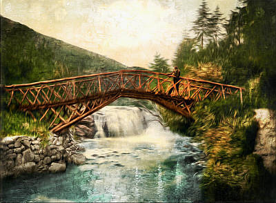 Photograph - Rustic Bridge In Glenariff Ireland - Remastered by Carlos Diaz