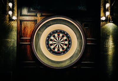 Rustic British Dartboard Art Print