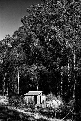 Photograph - Rustic Cabin In Black And White by Renee Hong