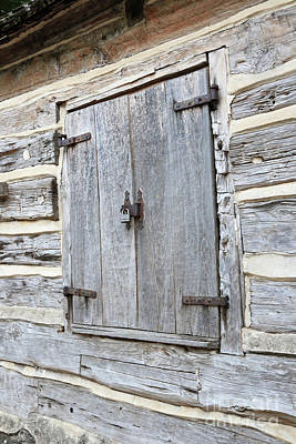 Rustic Cabin Window Art Print