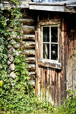 Photograph - Rustic Cabin Window II by Athena Mckinzie