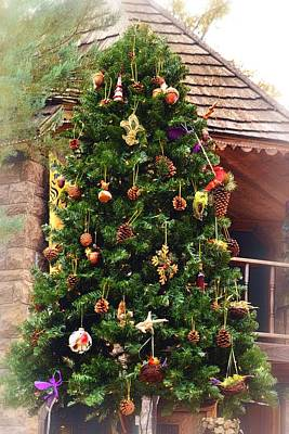 Photograph - Rustic Christmas Tree by Nadalyn Larsen