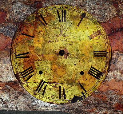 Photograph - Rustic Clock Face by Marie Jamieson