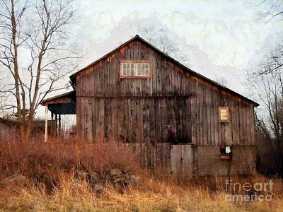 Rustic Country Barn - Long November Art Print by Janine Riley
