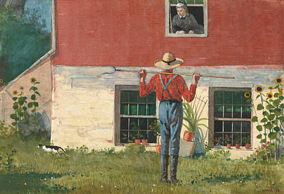 Painting - Rustic Courtship by Winslow Homer