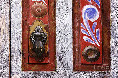 Folk Art Photograph - Rustic Door by Jeremy Woodhouse