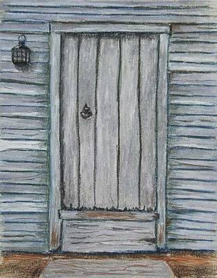 Pastel - Rustic Door by Marina Garrison