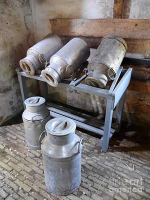 Photograph - Rustic Dutch Milk Cans by Lexa Harpell