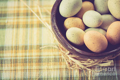 Photograph - Rustic Eggs by Cheryl Baxter