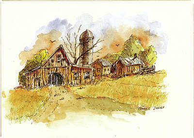 Photograph - Rustic Farm by Barry Jones