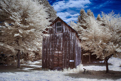 Photograph - Rustic Farm Building In Infrared by Jeff Folger