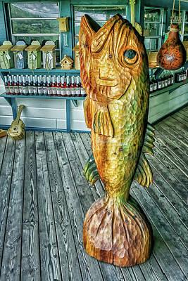 Rustic Fish Art Print