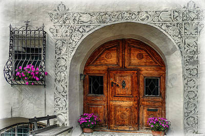Photograph - Rustic Front Door by Hanny Heim