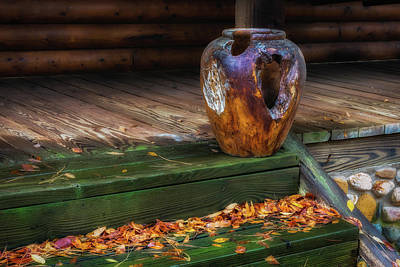 Photograph - Rustic Front Porch by James Barber