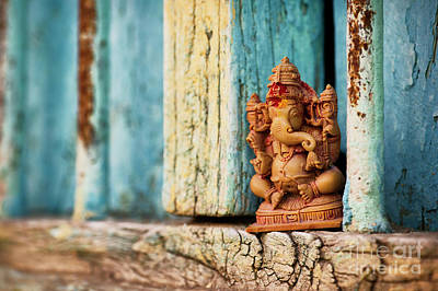 Religious Statue Photograph - Rustic Ganesha by Tim Gainey