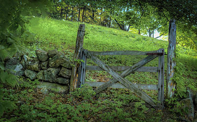 Photograph - Rustic Gate by Rick Mosher