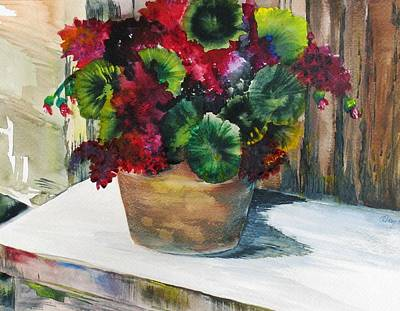 Rustic Geraniums Art Print by Arry Murphey