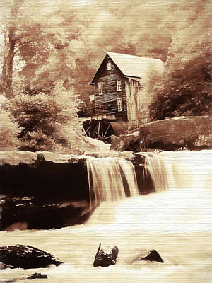 Rustic Glade Creek Grist Mill Art Print by Dan Sproul