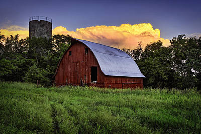 Silo Photograph - Rustic Glory by Thomas Zimmerman