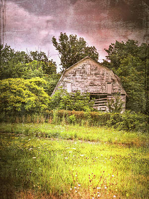 Photograph - Rustic Grunge Barn by Dan Sproul