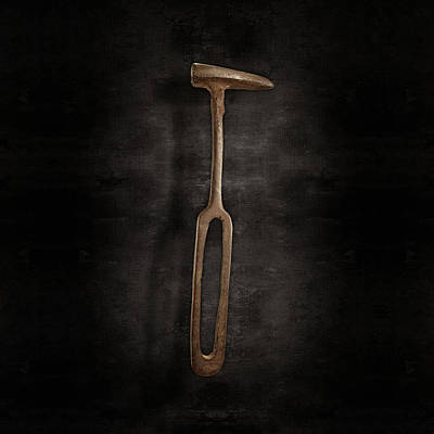 Photograph - Rustic Hammer On Black by YoPedro