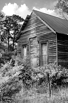 Photograph - Rustic Homestead - Antique Home Barn Country Rural by Jon Holiday
