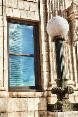 Painting - Rustic Lamp Post Ap by Dan Carmichael