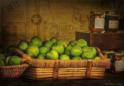 Photograph - Rustic Limes by Wallaroo Images
