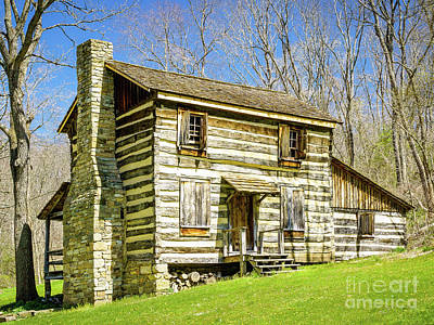 Photograph - Rustic Log Cabin by John Waclo