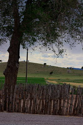 Photograph - Rustic Log Fence Utah Countryside Photograph By Colleen by Colleen Cornelius