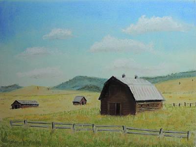 Painting - Rustic Montana Barn by Jayne Wilson