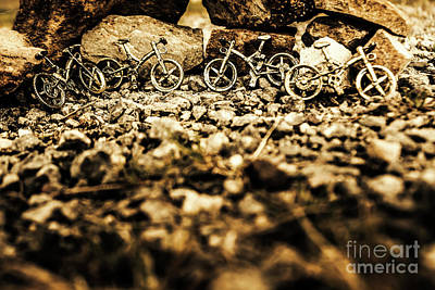 Cycle Photograph - Rustic Mountain Bikes by Jorgo Photography - Wall Art Gallery