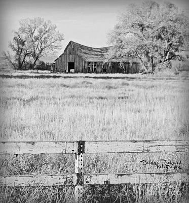 Photograph - Rustic Nevada Barn by Bobbee Rickard