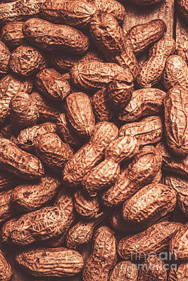 Copy Photograph - Rustic Nuts Background  by Jorgo Photography - Wall Art Gallery