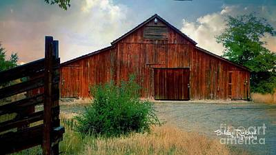 Photograph - Rustic Ol Red Barn by Bobbee Rickard