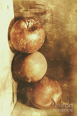Apple Still Life Photograph - Rustic Old Apple Box by Jorgo Photography - Wall Art Gallery