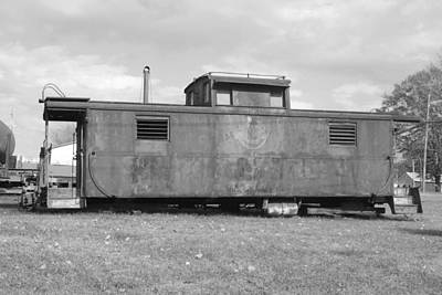 Old Caboose Photograph - Rustic Old Caboose by Joseph C Hinson Photography