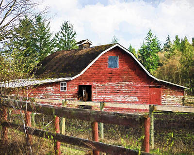 Photograph - Rustic Old Horse Barn by Jordan Blackstone