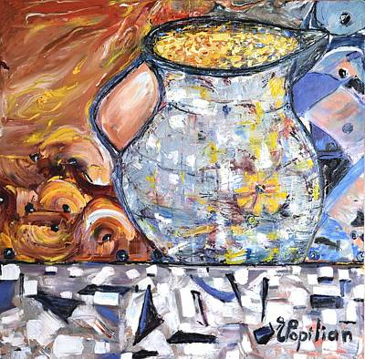 Painting - Rustic Pitcher by Evelina Popilian