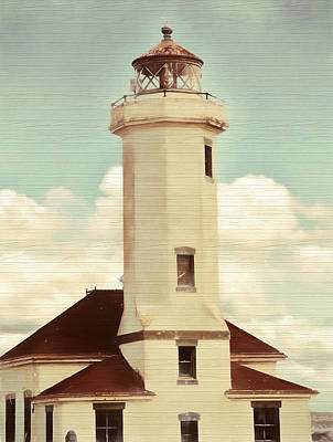 Mixed Media - Rustic Point Light by Dan Sproul