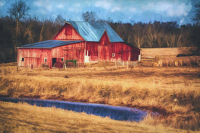 Photograph - Rustic Red Barn by Anna Louise