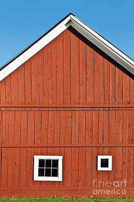Rustic Red Barn Art Print by John Greim