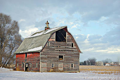 Photograph - Rustic Red Barn by Kathy M Krause