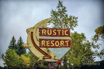 Photograph - Rustic Resort Sign by Lynn Sprowl