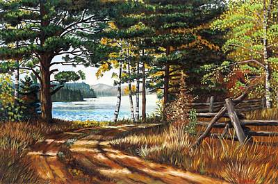 Painting - Rustic Road by Phil Chadwick