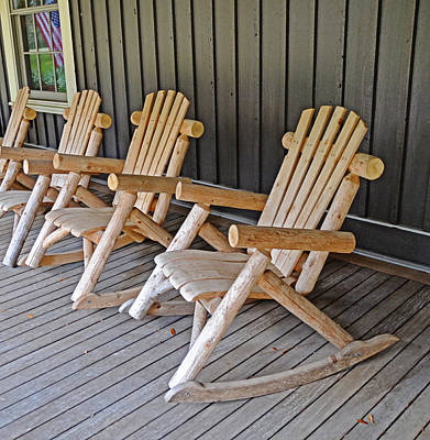 Photograph - Rustic Rockers by Linda Brown