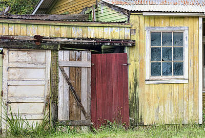 Photograph - Rustic Shed Panorama by Mark Harrington