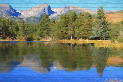 Mixed Media - Rustic Sprague Lake Reflections by Dan Sproul